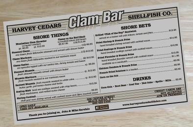 clam menu